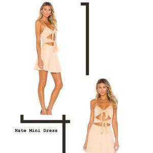 Lovers & Friends Nate Mini Dress in Tan